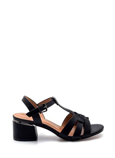 Derimod Kadın Sandalet (Zs3069-Z25) Casual Siyah